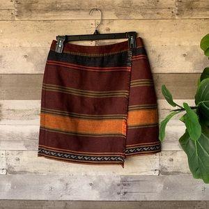 Ann Taylor Loft Wool Mini Skirt 4 petite